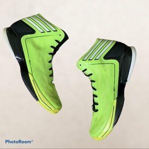 Adidas Neon Yellow/Green & Black Basketball Shoes